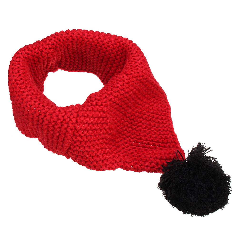 Зимняя шерсть Детский воротник Шарф Трикотажный воротник с шариковым носовым платком Аксессуары для одежды