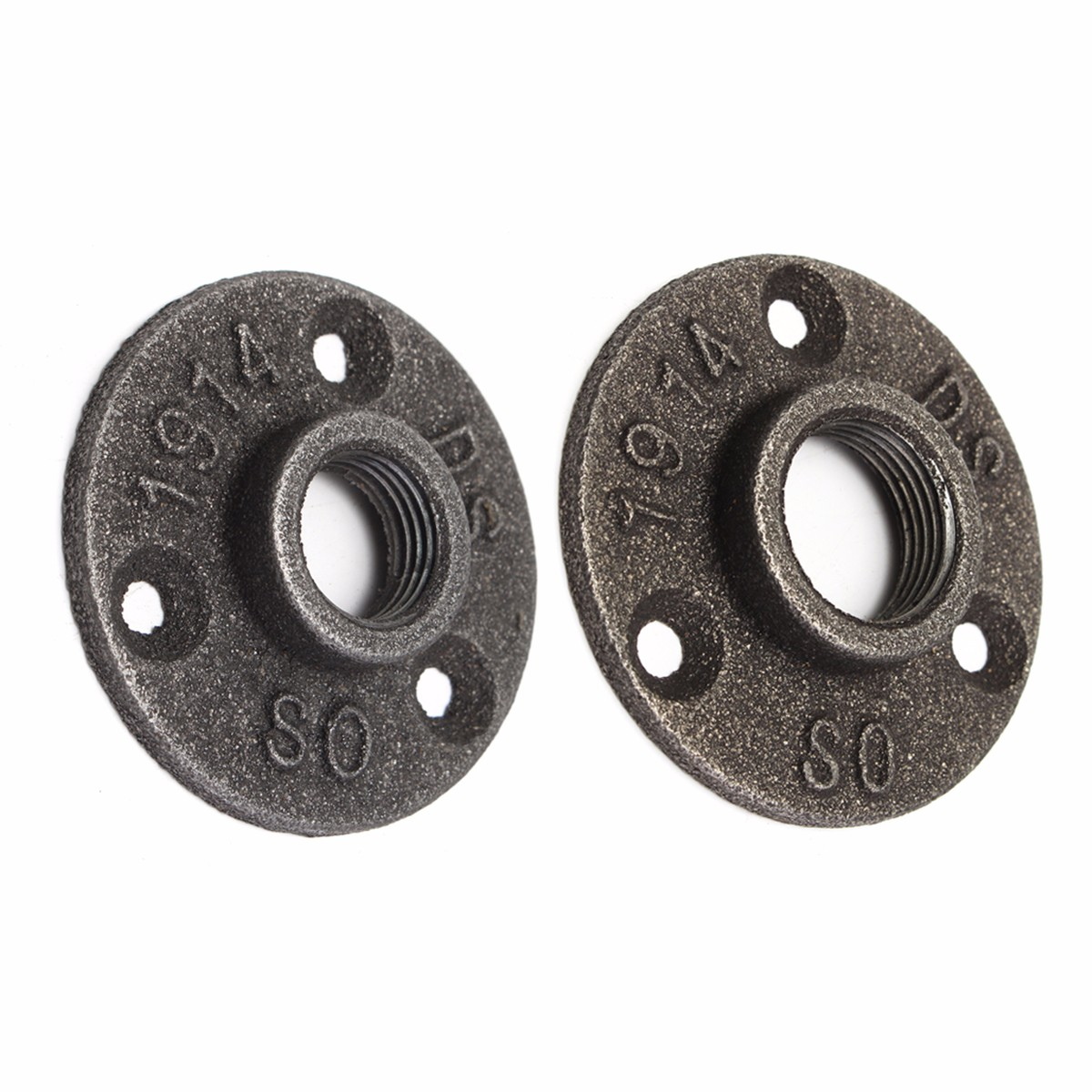 """10Pcs 1//2 3//4/"""" inch Three Holes Flange Pipe Floor Fitting Threaded Wall UK stock"""