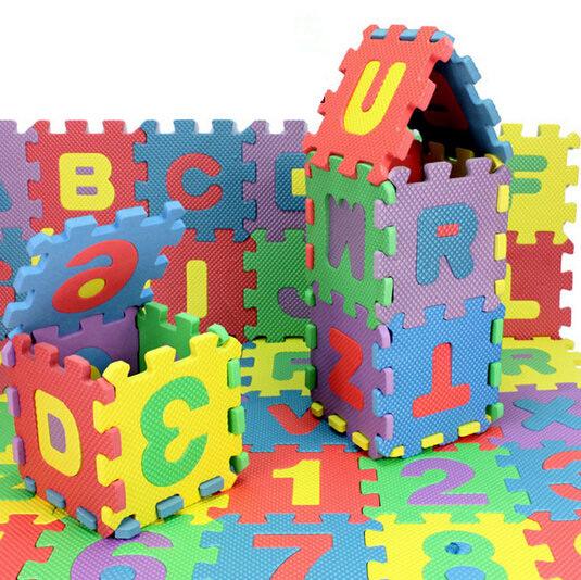 72pcs младенца дети мини EVA пены буквы алфавита номер коврик 3d головоломки образовательные игрушки