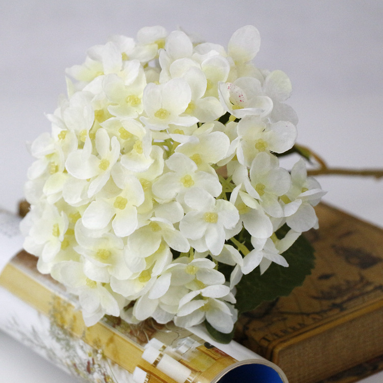 How To Make A Wedding Bouquet With Artificial Flowers.Artificial Hydrangea Silk Fake Flowers Balls Wedding Bouquet With