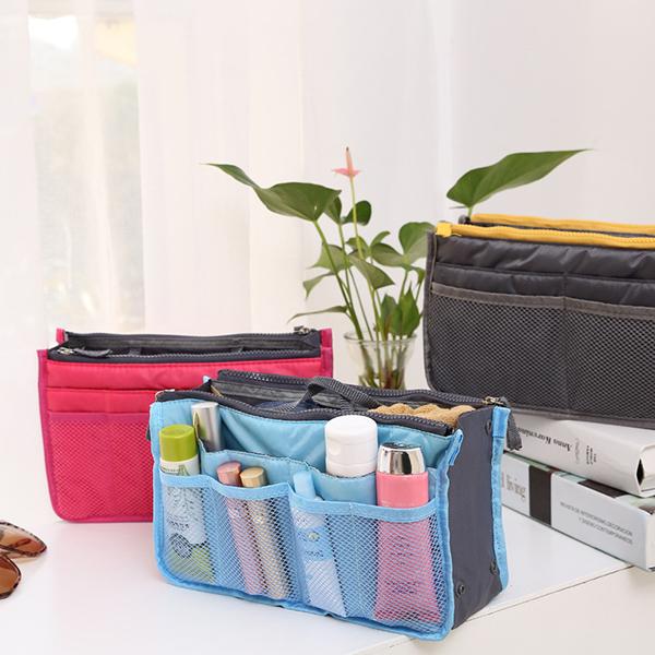 Женщины леди путешествия вставки сумки кошелек организатор большой организатор лайнера аккуратные сумки