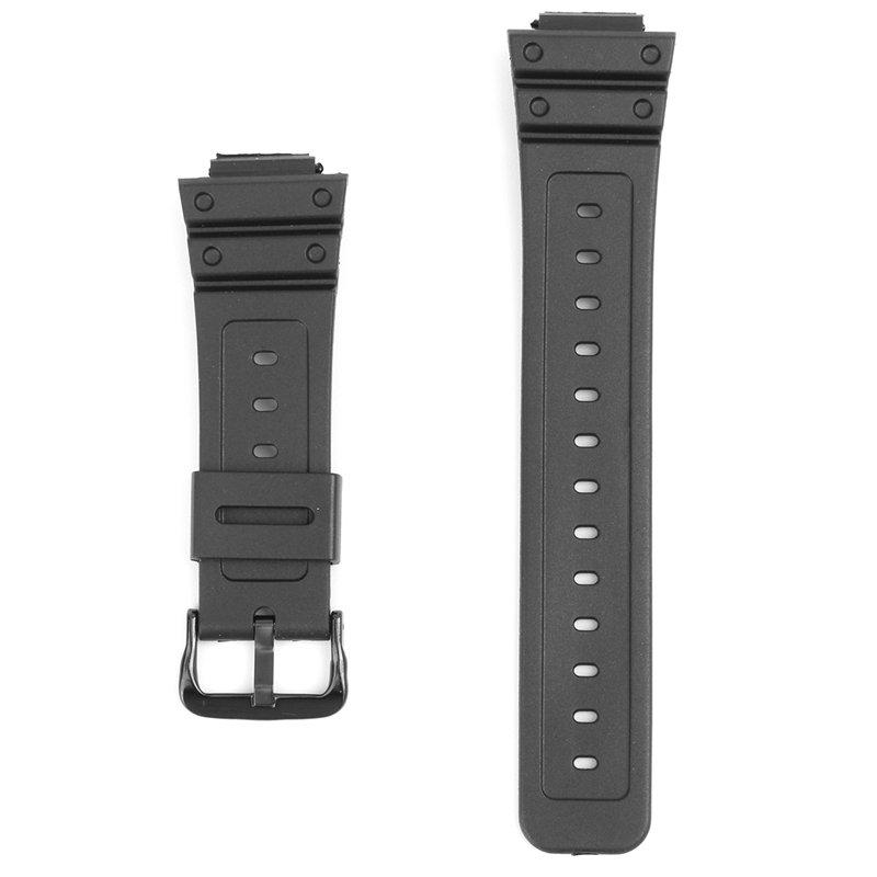 16 мм Запасные черные резиновые часы Стандарты Для CASIO