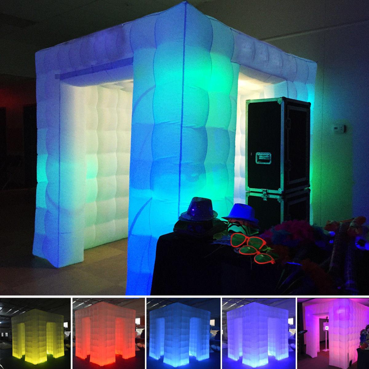 2.55 М Надувные Профессиональные LED Air Photo Booth Стрельба Фотографии