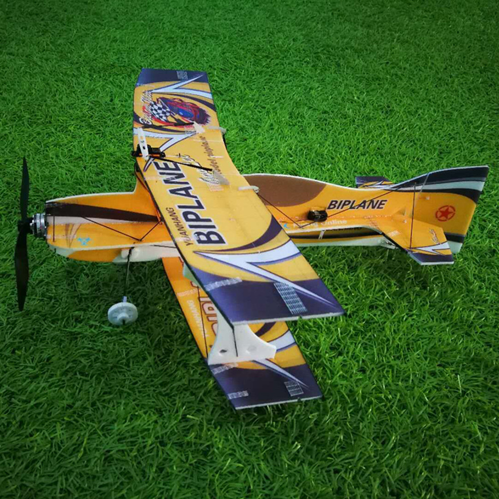 Mini-biplane Hornet 400mm Wingspan 3D Aerobatic Fixed-wing RC Airplane Aircraft Epp D Board Indoor Outdoor F3P KIT