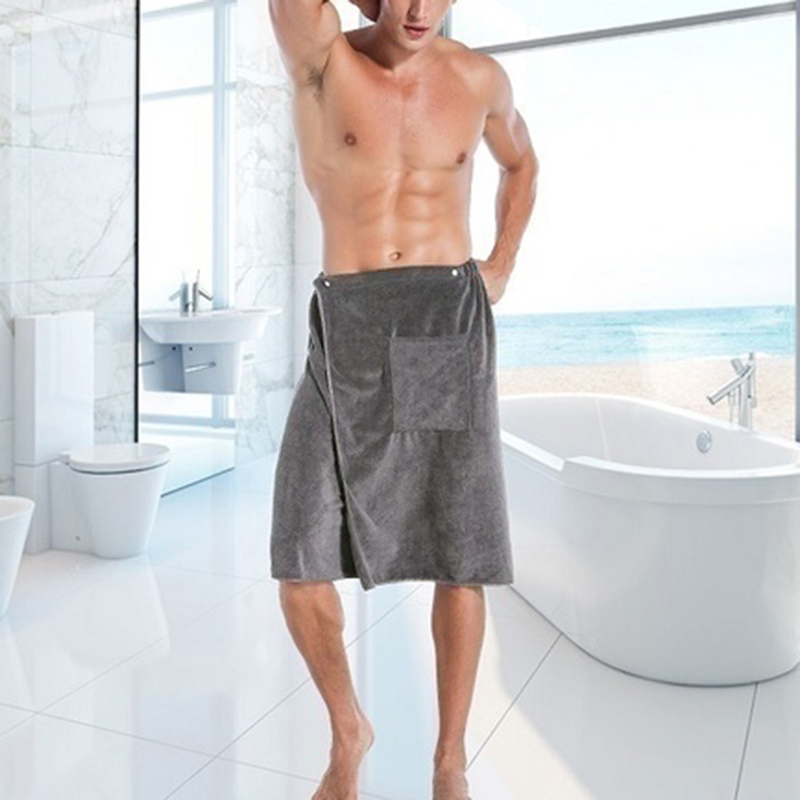 Mens Bathtub Skirt Soft Comfortable Absorbent Beach Tow