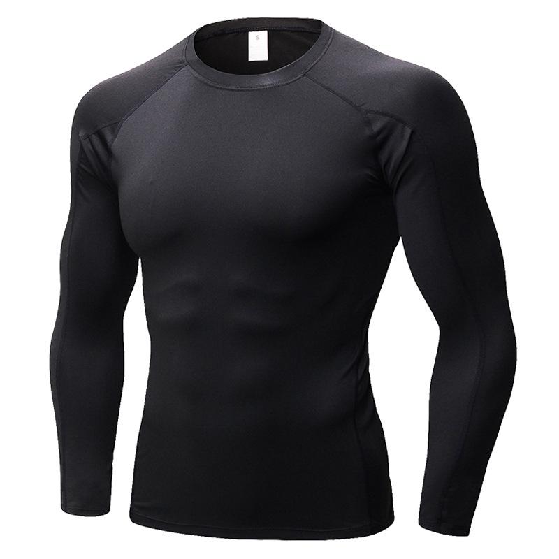 Pro Mens сжимают длинные рубашки с длинным рукавом Фитнес Тренировочные топы Activewear