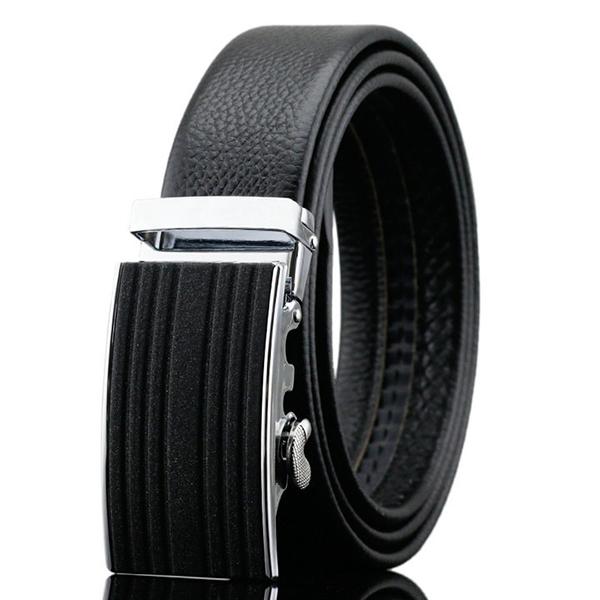125-130CM Бизнес кожа ремешок моды Автоматическая пряжка Ремень Пояс для мужчин