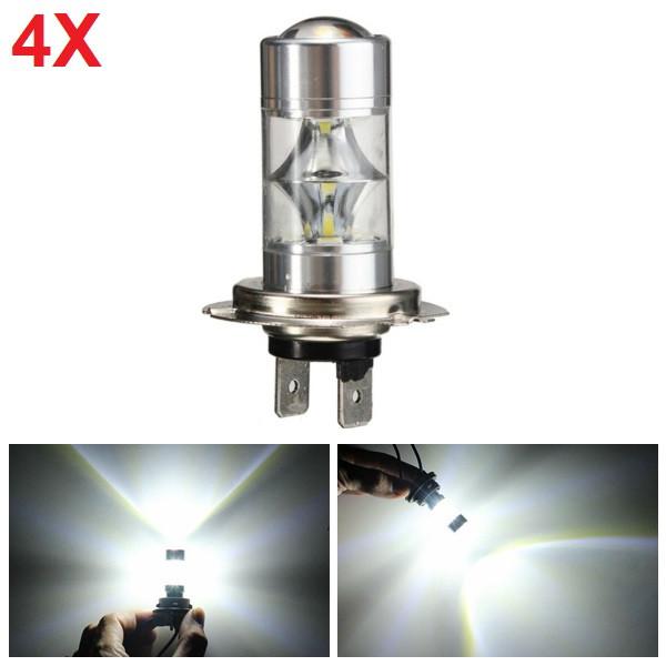 4pcs 6500K H7 Daytime Running Lamp 2835 12SMD LED