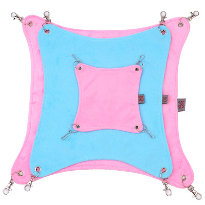 Pet Plush Cloth Hamster Chinchilla Hammock Hanging Bed Cage Accessories Pet Bed