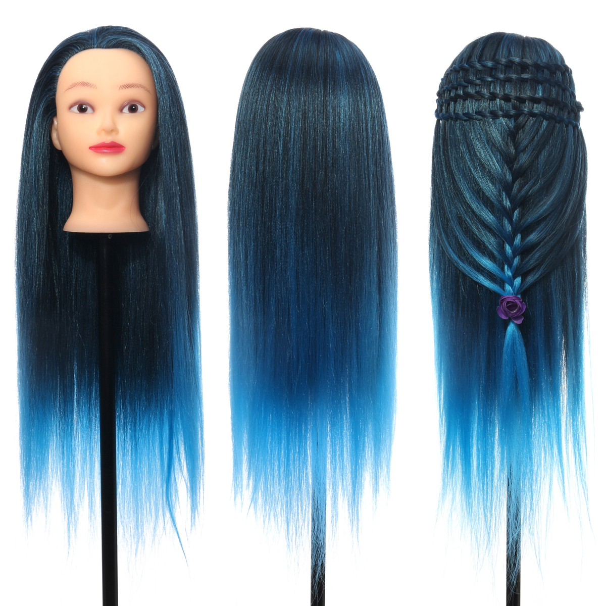 26'' Colorful Hair Hairdressing Practice Training