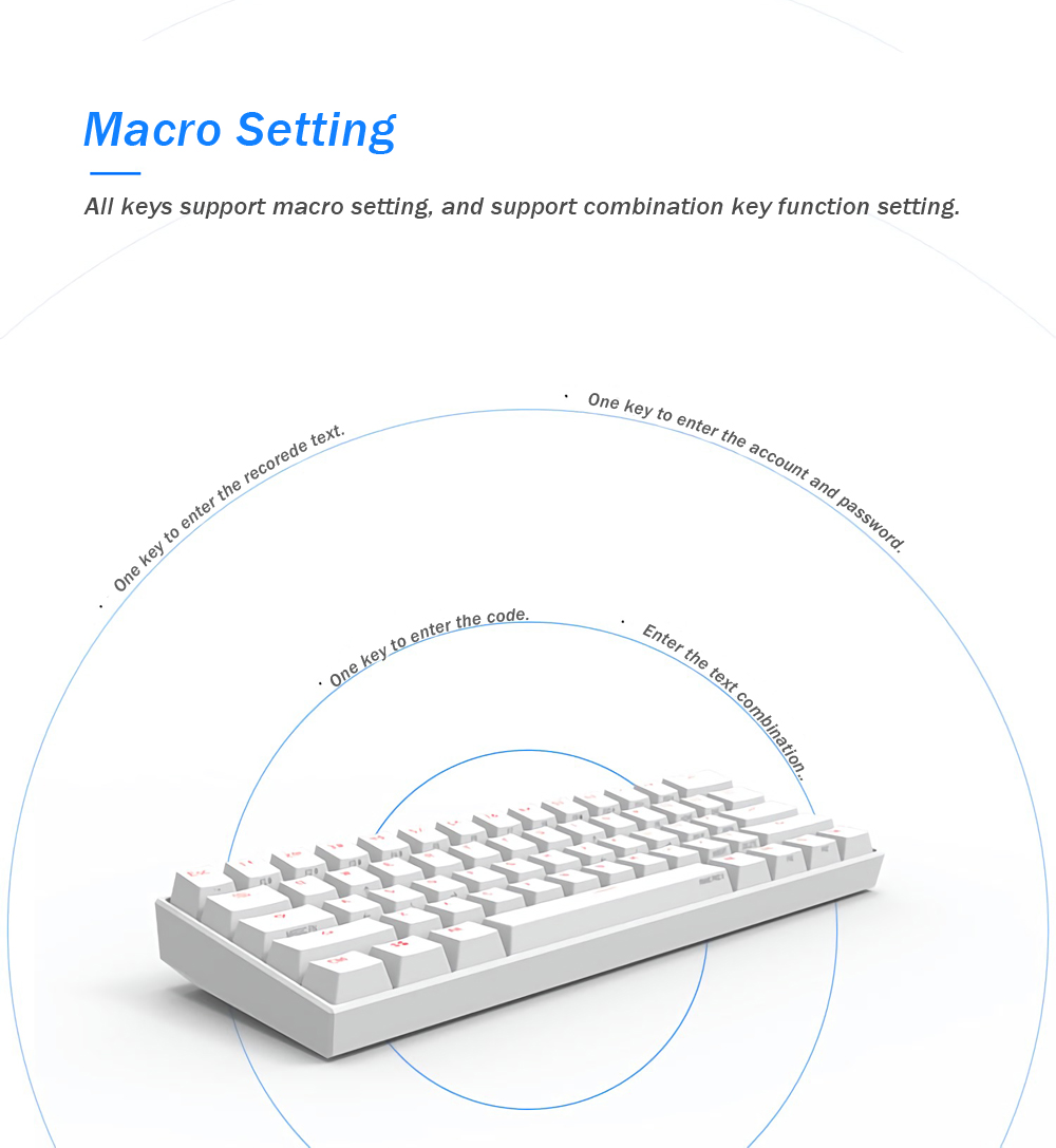[Kailh BOX Switch]Obins Anne Pro 2 60% NKRO bluetooth 4.0 Type-C RGB Mechanical Gaming Keyboard 19