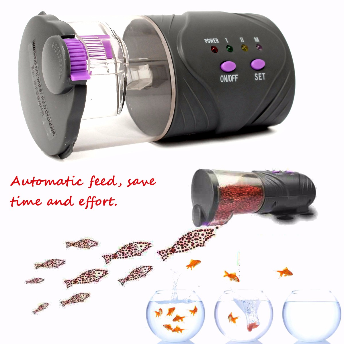 Aquarium Automatic Fish Feeder Aquarium Tank Timer Fish Food Feeder Feeding Tools
