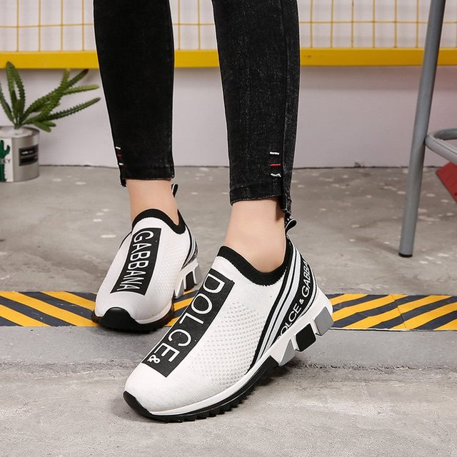 New Net Red Elastic Sports Chaussures Chaussettes Chaussures Grande Taille Chaussures Femmes Ins Chaussures