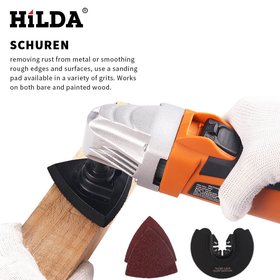 HILDA 110V 260W 11000-21000rpm Trimming Machine Oscillating Multi Saw Oscillating Power Tool