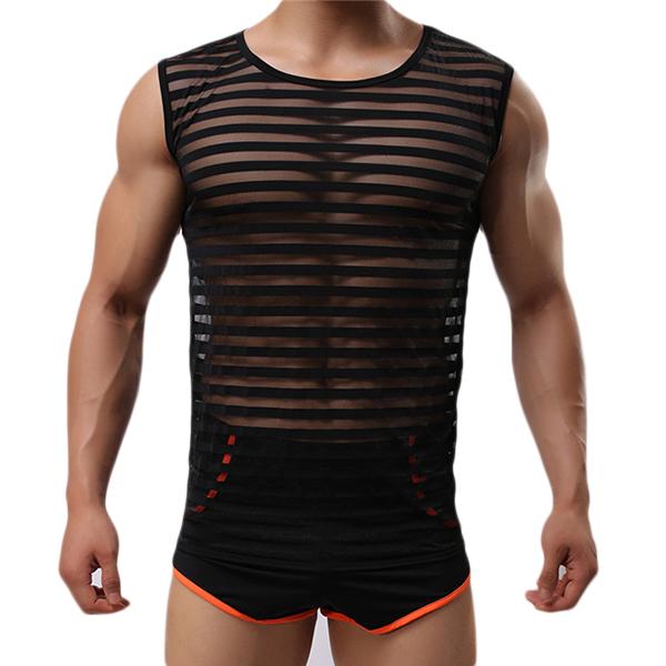 Модные повседневные мужские спортивные дышащие бодибилдинг без рукавов Фитнес майка с низким вырезом майки