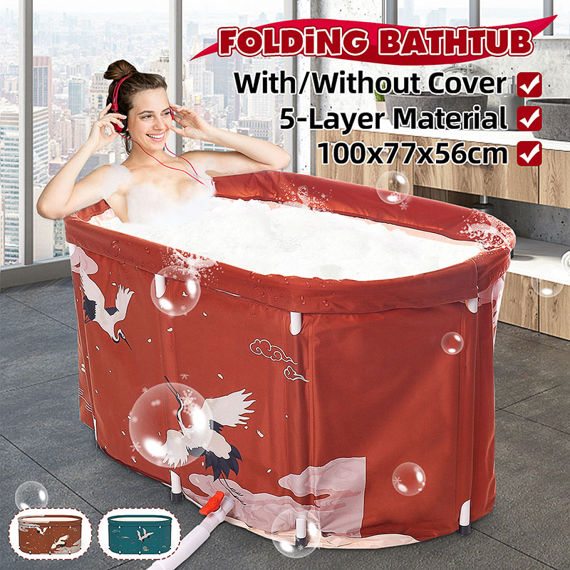 Crane Folding Bathtub Water Tub Indoor Outdoor Portable Adult Spa Bath Bucket 1