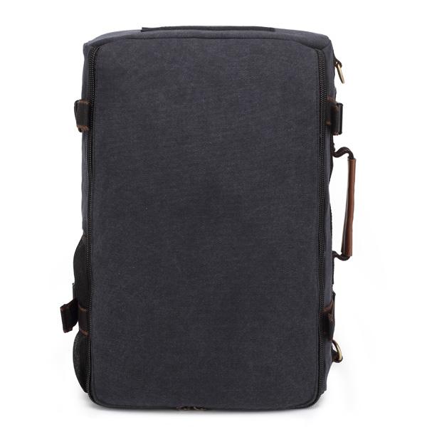 KAUKKO Men's Canvas Black Army Green Shoulder Travel Tactical Backpacks