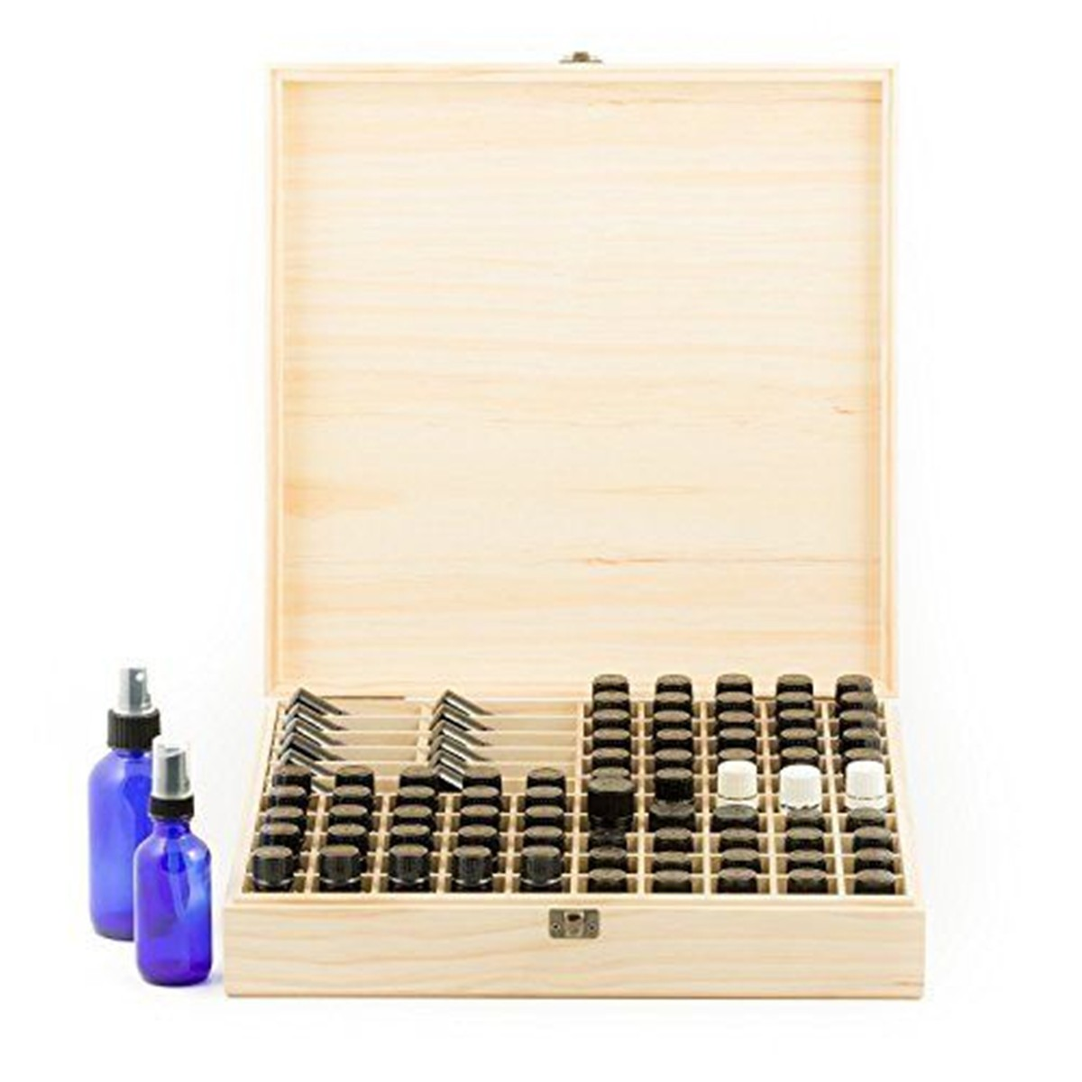 85 Slots Essential Oil Storage Box Wooden Case Aromatherapy Organizer Storage Display Container