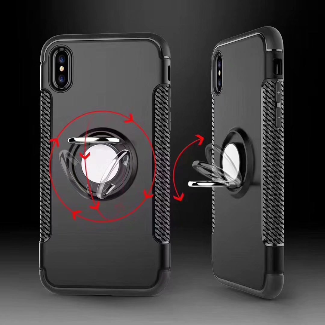 Bakeey Anti-slip Shock-proof 360° Adjustable Ring Holder Protective Case for Xiaomi Mi8 SE 5.88 inch