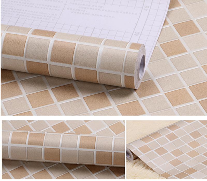 Samoprzylepne Mozaiki Naklejki łazienka Naklejki ścienne Wystrój Domu Tapeta łazienka Kuchnia Diy Zwykły Design