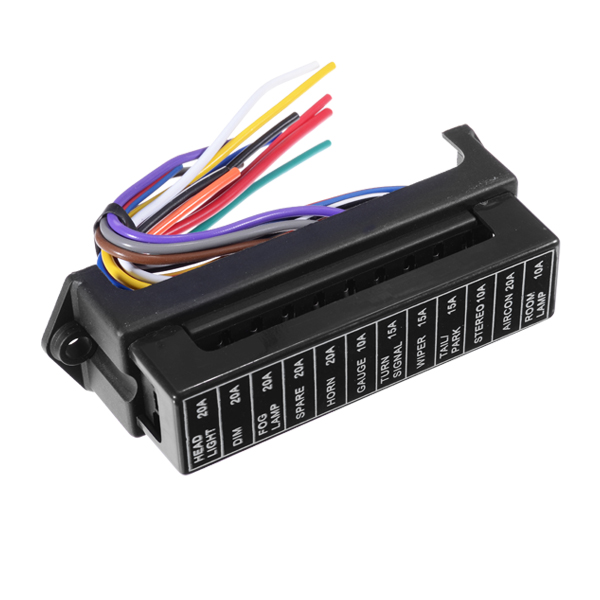 jz5704 jiazhan car 12 way fuse box 12 road with wire modification basic block  auto fuse
