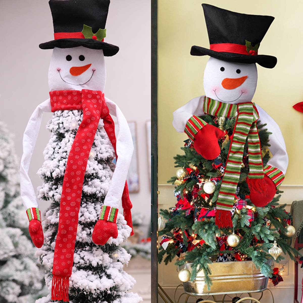 New Snowman Christmas Tree Topper Party Home Top Of The Tree Decorations