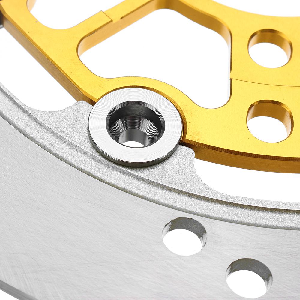 BIKIGHT 220mm Aluminum Alloy Floating Brake Disc Refitted Motorbike For  Front Wheel Brake Rotor