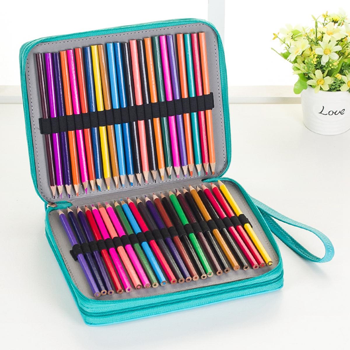 120 Slots Pencil Case Cosmetic Makeup Bag Storage Trave