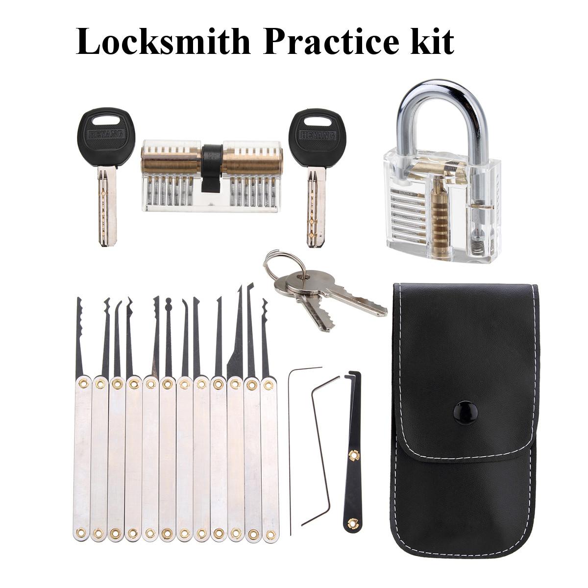 Unlocking Lock Opener Kit Locksmith Training Transparent Practice Padlocks Tools