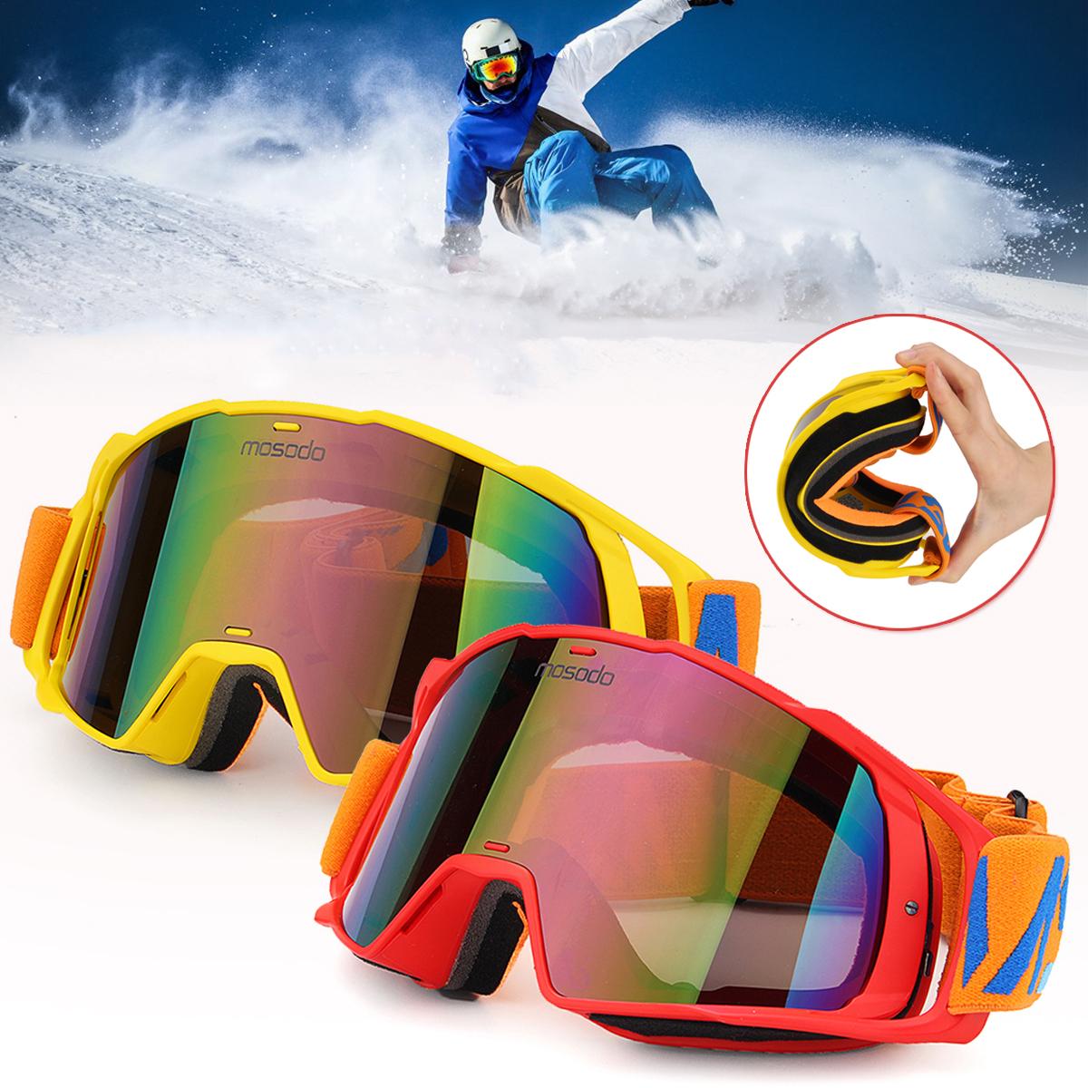 MSD78НаоткрытомвоздухеКатаниена лыжах по конькобежному спорту Снегоход Очки Ветрозащитный противотуманный UV Защита для му