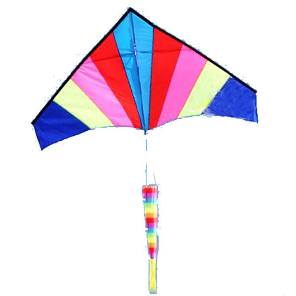 Открытый многоцветный Nylon треугольник летающий змей с линией 100 м