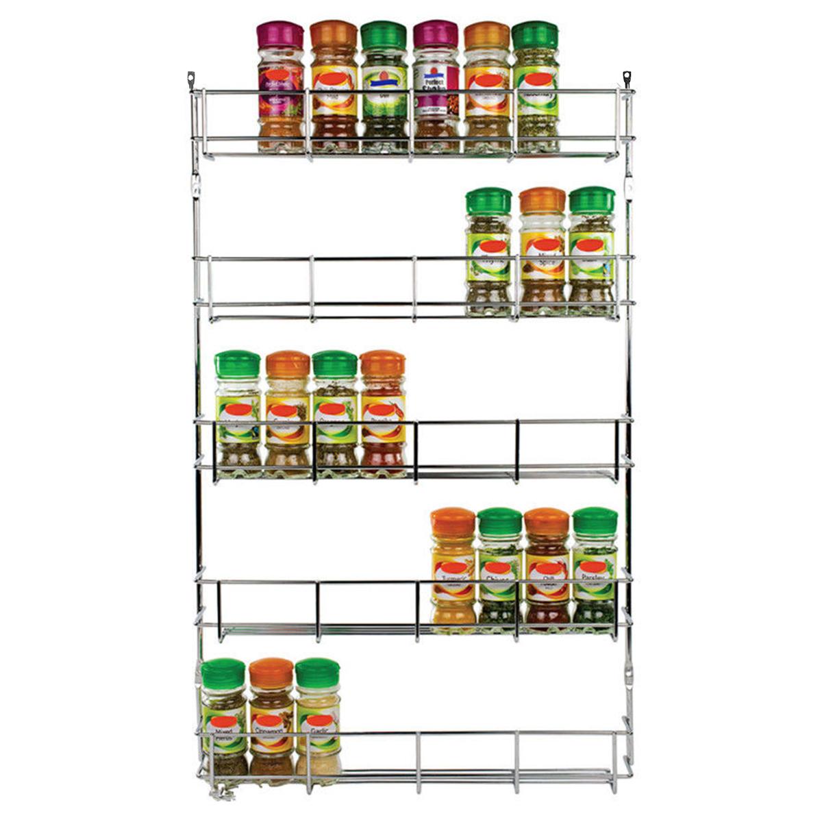 5 Tiers Кухонный шкаф для хранения специй Органайзер Держатель для хранения настенных шкафов для хранения кухонной стойки фото
