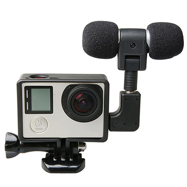 Внешний микрофон с микрофонного адаптера стандартный набор кадров, пригодный для жизни GoPro герой 4 3 Plus 3