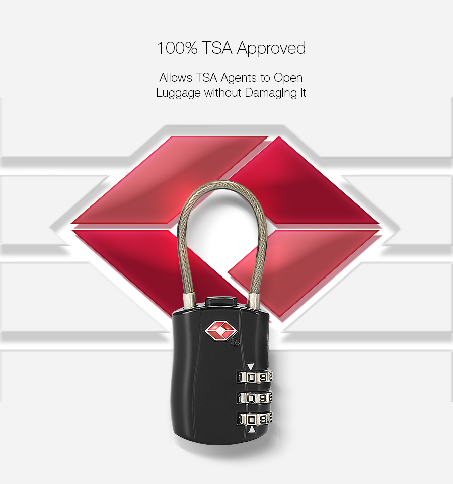 KCASA KC-JC168 Travel TSA Luggage Lock 3 Digit Combination Suitcase Locks