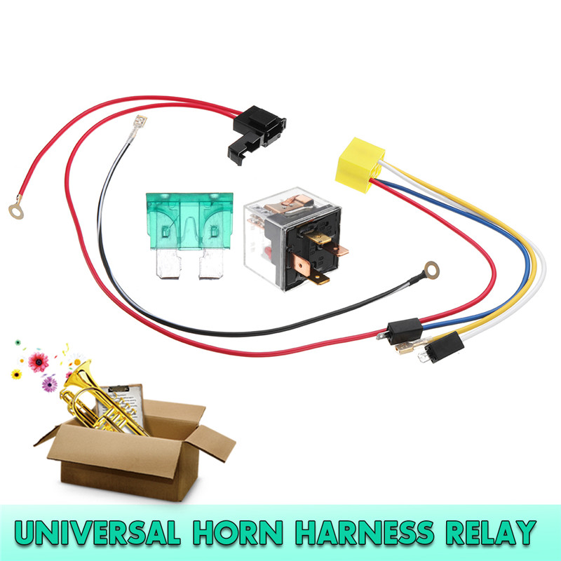 12v dual tone electric air horn wiring harness relay for car truck Universal Wiring Harness Truck on universal ignition module, construction harness, universal radio harness, universal fuse box, universal equipment harness, stihl universal harness, universal miller by sperian harness, universal heater core, universal steering column, universal air filter, universal fuel rail, universal battery, lightweight safety harness,