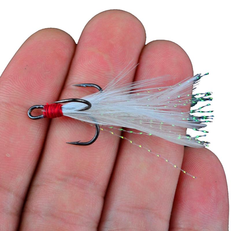 Рыболовные крючки с пером бас крючки #4