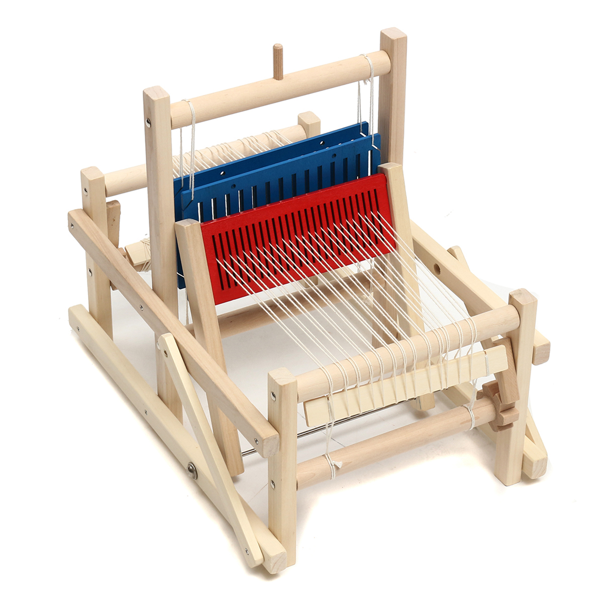 Craft Wooden Traditional Table Knitting Weaving Loom Kids Toys Educational  DIY Brocade Model