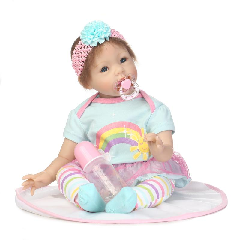 online retailer 5be67 f6921 NPK 23'' Reborn Babies Doll Soft Silicone Realistic Baby Dolls Fashion Baby  Toys