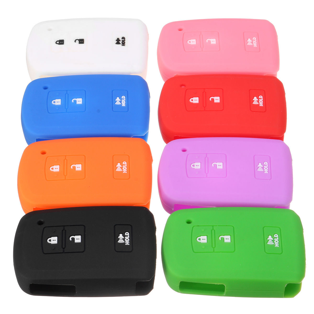 Car Key Case Cover 3 Buttons Silicone Cover Fob C