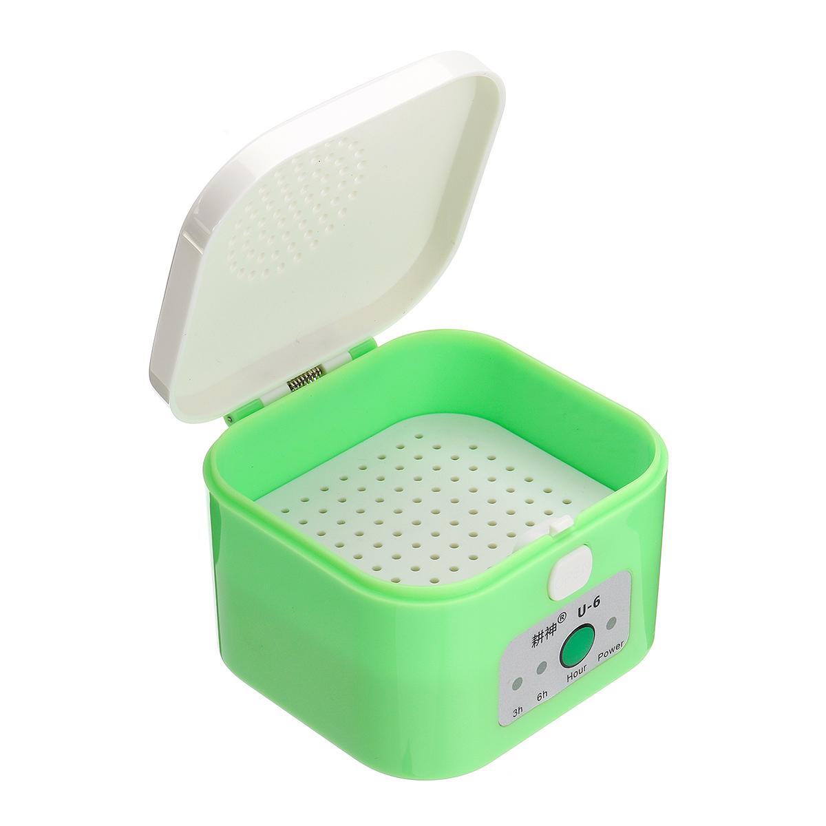 Digital Hearing Aid Trockner Elektrische Trocknung Box Luftentfeuchter 3/6 Stunden Timer Feuchtigkeitsfest Pflegen