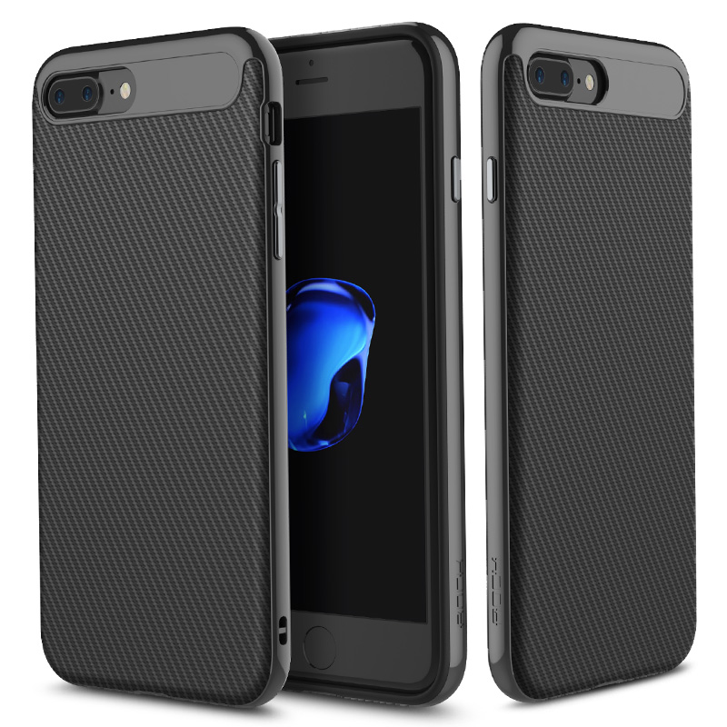 Rock Carbon Fiber Texture TPU PC Чехол для iPhone 7 Plus/8 Plus