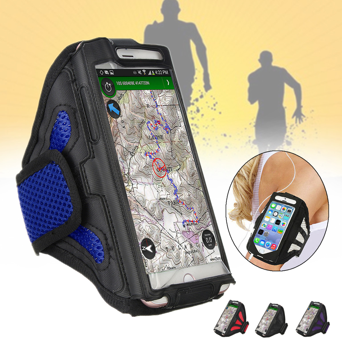 Gym Sports Running Bag Jogging Armband Case Cover Phone Bag for under 5.5 inches Cell Phone