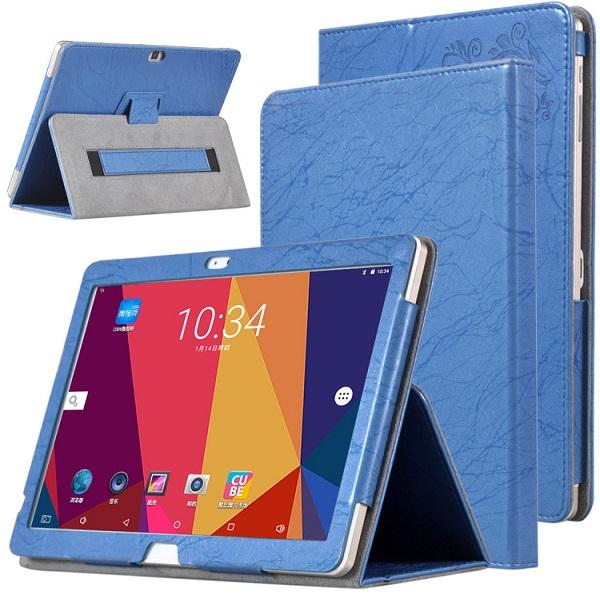 Кожа PU Чехол Складная подставка для подставки для 10,1 дюйма ALLDOCUBE Cube Free Young X7 Tablet Blue