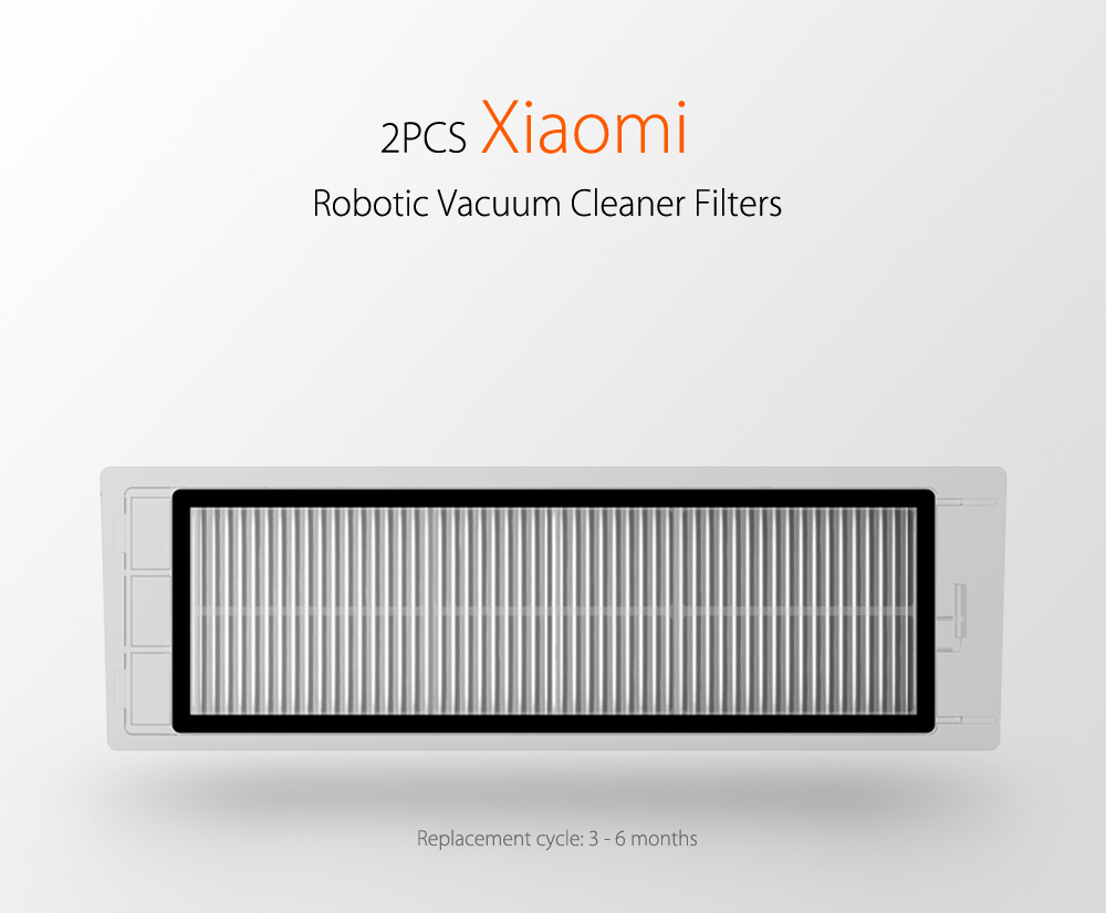 2pcs Xiaomi Robotic Vacuum Cleaner Filter for mi Robot Filters Replacements  Accessory