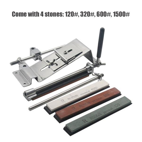 Honana Profession Kitchen Sharpening Tool Scissor Blade Sharpener Tools With 4 Stones Sharpen Stone 10