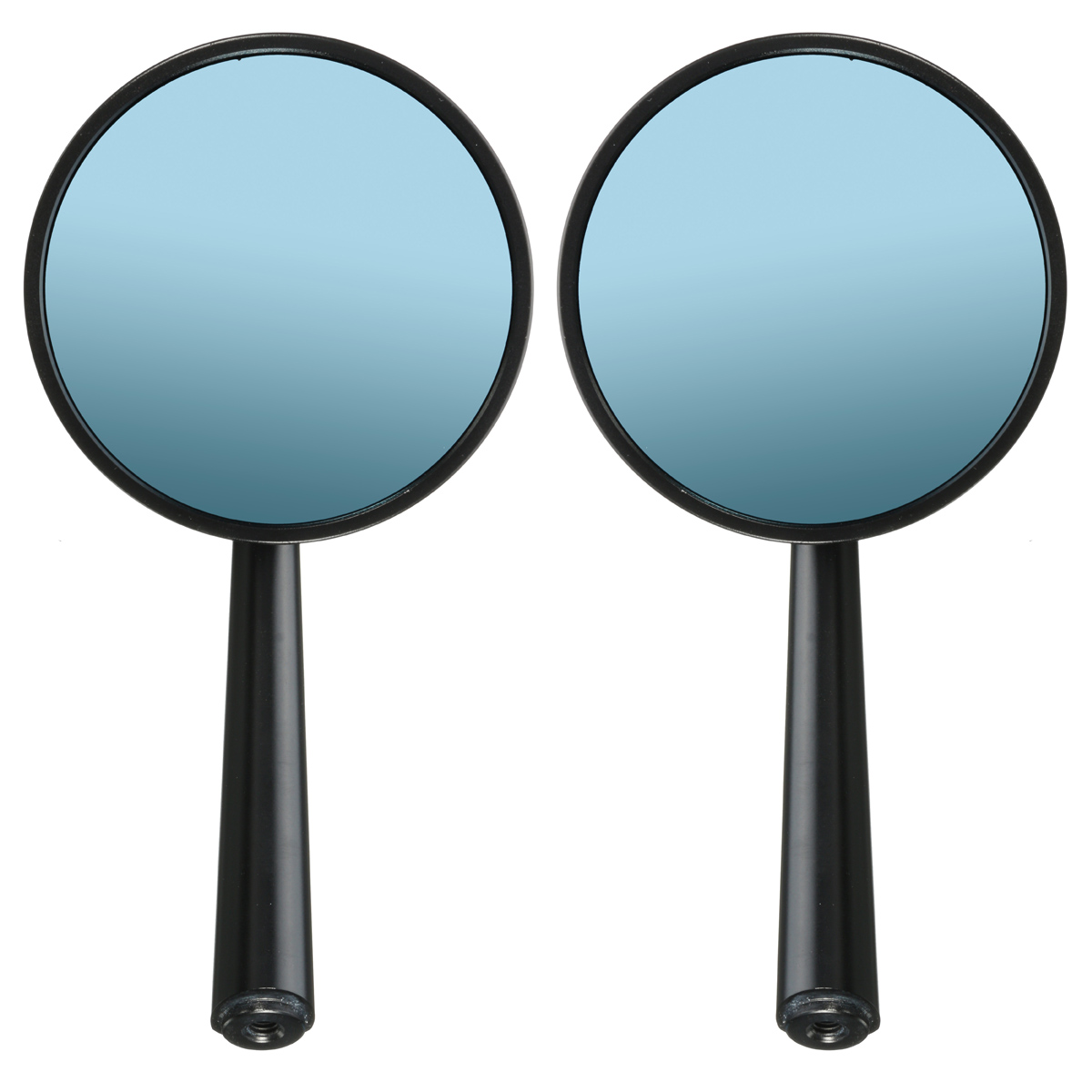 CNC Aluminum Round Motorcycle Rear View Mirror For Cruiser Chopper 8mm 10mm