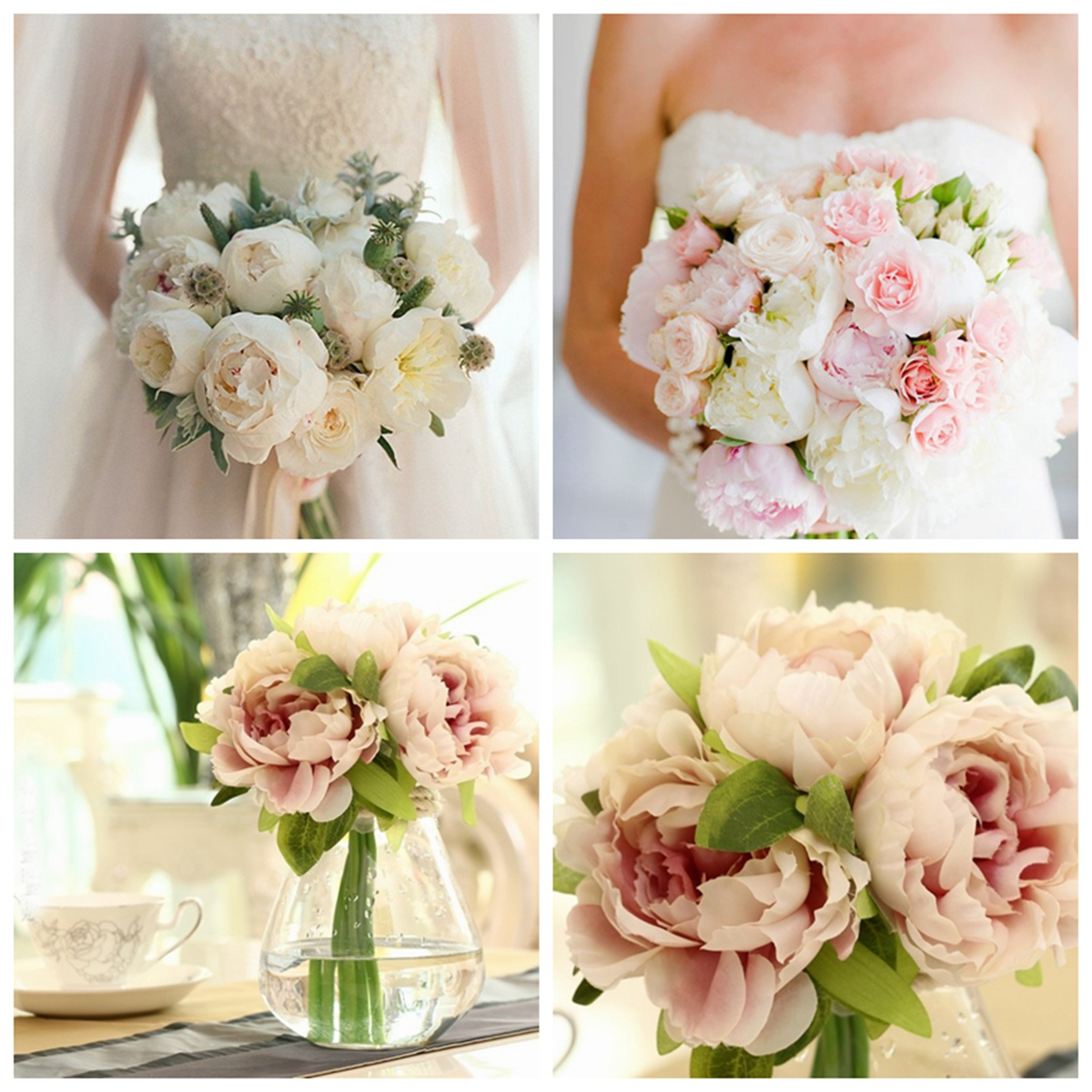 Simulation Peony Artificial Colorful Flower Gerbera Wedding Party Home Cafe Decorations