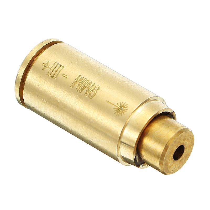 CAL 9MM Laser Bore Sighter Red Dot Sight Brass Cartridge Bore Sighter Caliber