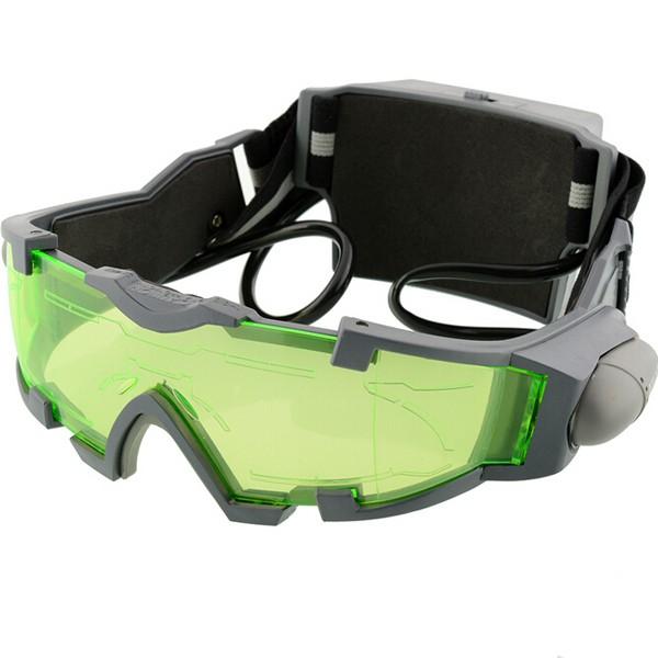 Очки ночного видения Объектив Регулируемая эластичная Стандарты Ночь Очки Eyeshield Worldwide Green