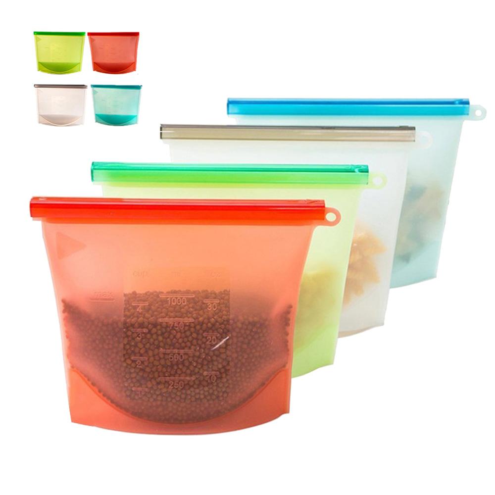 МногоразовыеСиликоновыйПродуктыпитаниясвежиеСумки Холодильник Хранение продуктов Контейнеры Холодильник Запечатанны